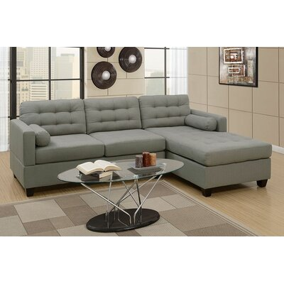 Viva Reversible Sectional Upholstery: Gray
