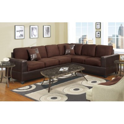 Venezia Reversible Modular Sectional Upholstery: Chocolate