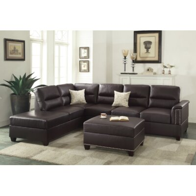 Venilale Reversible Sectional with Ottoman