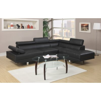 Heideman Sectional Upholstery: Black