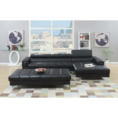 Heider Sectional Upholstery: Black
