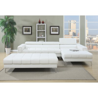 Heider Sectional Upholstery: White