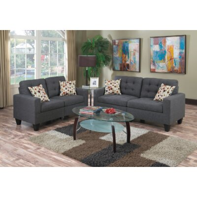 Cohn 2 Piece Living Room Set Upholstery: Blue Gray
