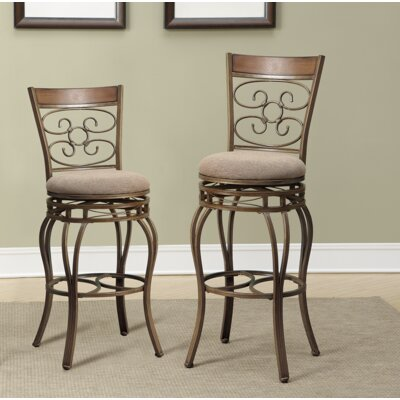 Creve 2 Piece Swivel Bar Stool Set