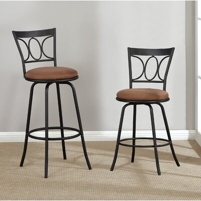 Colesville 2 Piece Swivel Bar Stool Set