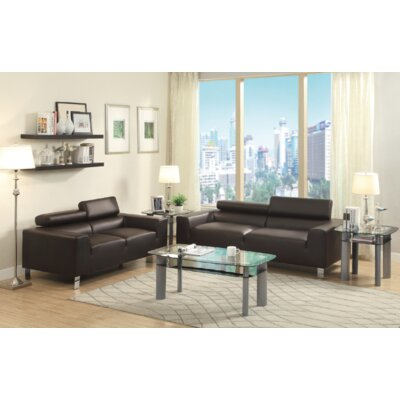 Jenkinson 2 Piece Living Room Set Upholstery: Espresso