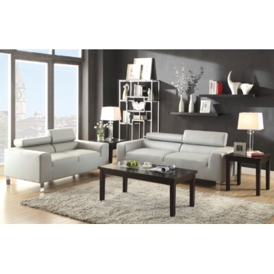 Jenkinson 2 Piece Living Room Set Upholstery: Gray