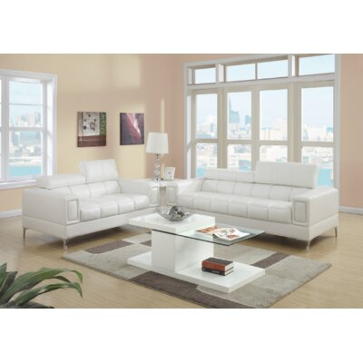 Jenkinson 2 Piece Living Room Set Upholstery: White