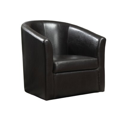 Chayne Barrel Chair Upholstery: Dark Brown