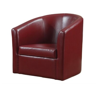 Chayne Barrel Chair Upholstery: Red