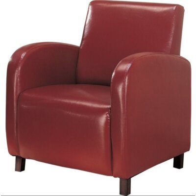 Chenelle Club Chair Upholstery: Red