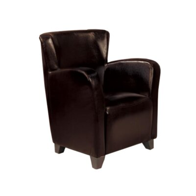Cheney Club Chair Upholstery: Dark Brown