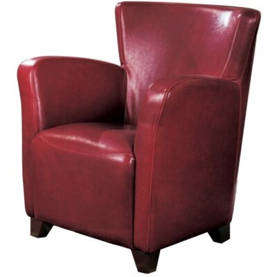 Cheney Club Chair Upholstery: Red