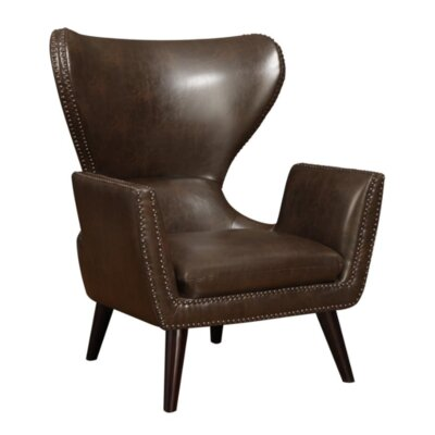 Buxton Wingback Chair Upholstery: Brown