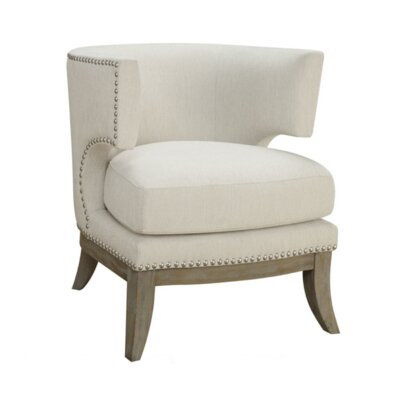 Aurore Barrel Chair Upholstery: White