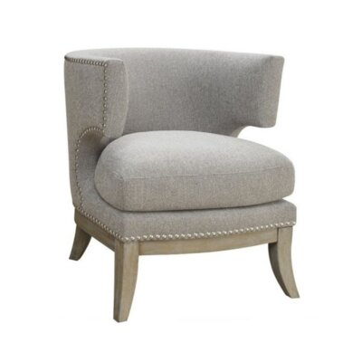 Aurore Barrel Chair Upholstery: Gray