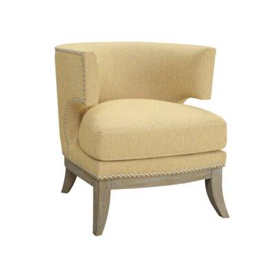 Aurore Barrel Chair Upholstery: Bumblebee Yellow