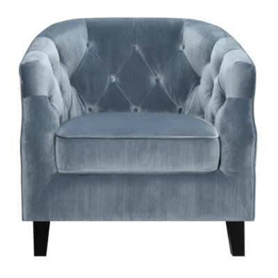Shinault Club Chair Upholstery: Dusty Blue