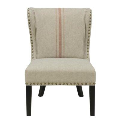Brownstown Wingback Chair Upholstery: Tan/Orange