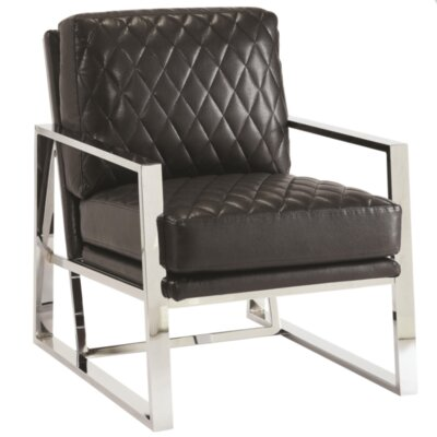 Elise Armchair Upholstery: Black