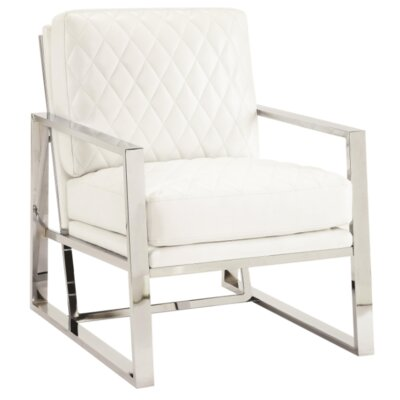 Elise Armchair Upholstery: White