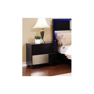Cristobal 2 Drawer Nightstand Color: Black
