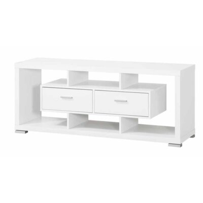 Roy 59 TV Stand Color: White
