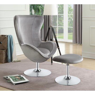 Dansby Swivel Armchair Upholstery: Gray