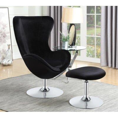Dansby Swivel Armchair Upholstery: Black