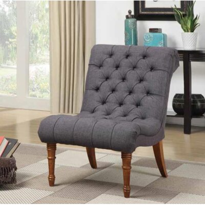 Crumpton Slipper Chair Upholstery: Charcoal Gray