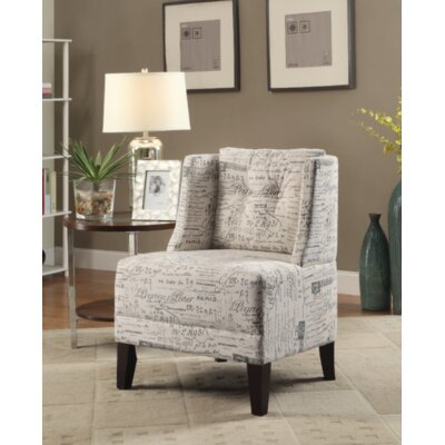 Damiansville Slipper Chair Upholstery: Script Pattern