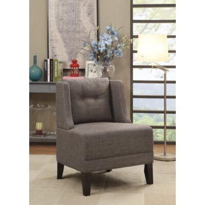Damiansville Slipper Chair Upholstery: Brown