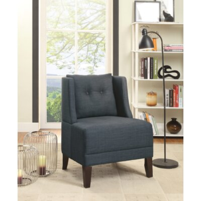 Damiansville Slipper Chair Upholstery: Dark Blue