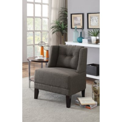 Damiansville Slipper Chair Upholstery: Ash Black