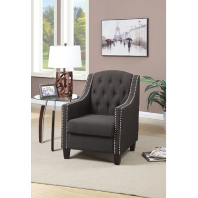 Francesville Arm Chair Upholstery: Ash Black