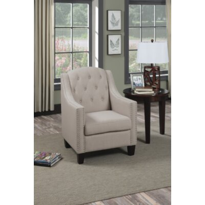 Francesville Arm Chair Upholstery: Beige