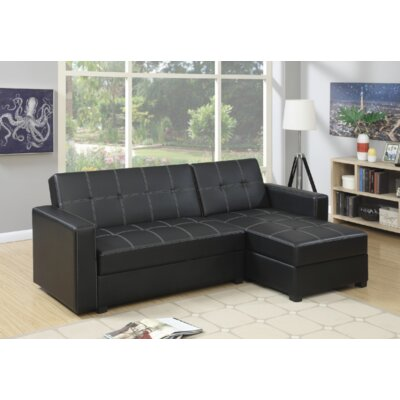 Paugh 2 Piece Modular Sectional Upholstery: Black