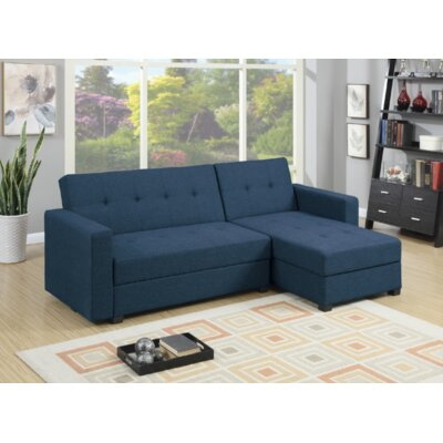 Paugh 2 Piece Modular Sectional Upholstery: Navy