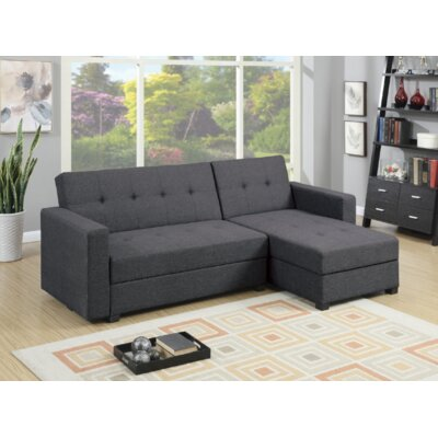 Paugh 2 Piece Modular Sectional Upholstery: Gray