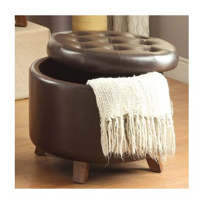 Dessens Storage Ottoman Upholstery: Brown