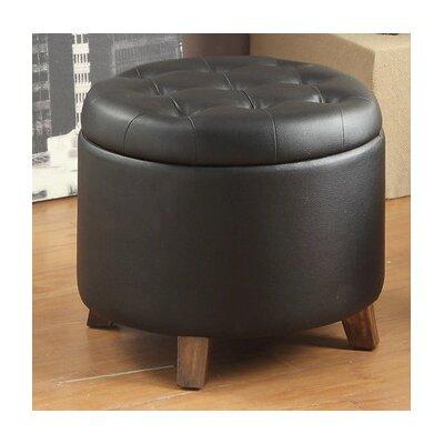 Dessens Storage Ottoman Upholstery: Black