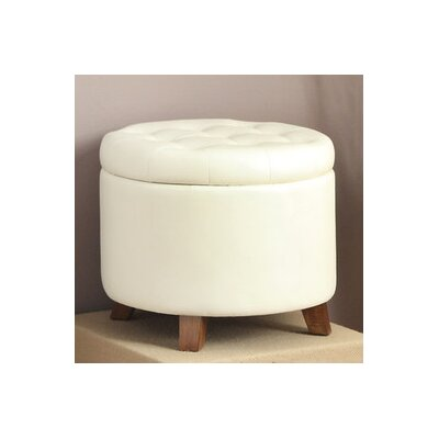 Dessens Storage Ottoman Upholstery: White