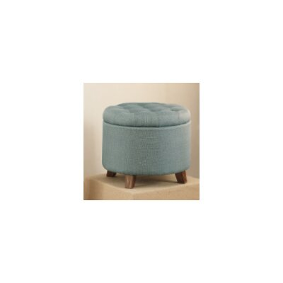 Call Storage Ottoman Upholstery: Light Blue