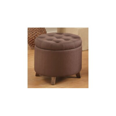 Call Storage Ottoman Upholstery: Chocolate