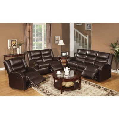 Stave Motion 3 Piece Living Room Set Upholstery: Espresso
