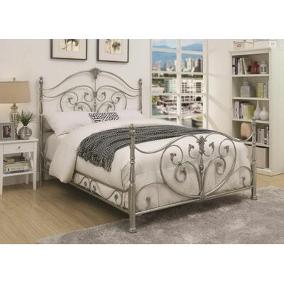 Larosa Metal Panel Bed Size: Califonia King