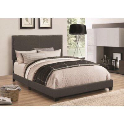 Sheldon Upholstered Panel Bed Color: Charcoal, Size: Twin