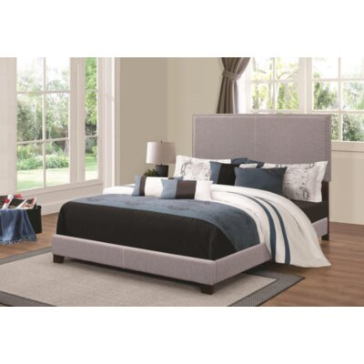 Sheldon Upholstered Panel Bed Color: Gray, Size: Queen