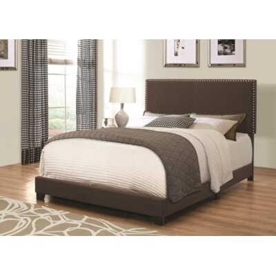 Sheldon Upholstered Panel Bed Color: Brown, Size: King
