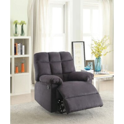 Gascon Manual Recliner Upholstery: Ebony